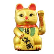 28cm Waving Lucky Fortune Cat Maneki Neko Japanese Porcelain Lucky Cat Money Box Piggy Bank