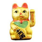 18cm Waving Lucky Fortune Cat Maneki Neko Japanese Porcelain Lucky Cat Money Box Piggy Bank