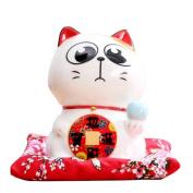 15cm Maneki Neko Japanese Porcelain Lucky Cat Money Box Piggy Bank Lucky Blessing #B