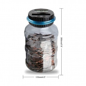 Clear Digital Piggy Bank, SANNYSIS Coin Savings Counter LCD Counting Money Jar Change Gift
