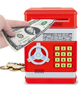 Electronic Money Safe Piggy Bank with Password Key
