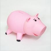 HairPhocas Cute Pink Pig Money Box Plastic Piggy Bank for Kid's Birthday Gift