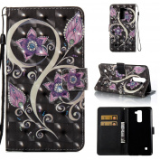 LG Stylo 2 Case,LG Stylo 2 Plus Case,LG Stylus 2 Plus case, ARSUE PU Leather Wallet Flip Protective Case Cover with Kickstand and Card slots for LG Stylus 2 / LS775