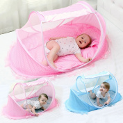 LUCKSTAR Baby Travel Bed - Fold Baby Bed Mosquito Net Netting Play Tent House for Baby/Kids