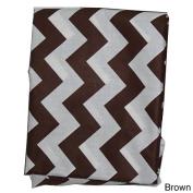 Ababy Chevron Portable Cotton Crib Sheet Orange
