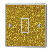 Gold Sequin Sparkle Light Switch Sticker Vinyl / Skin cover