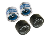 Bearing Buddy Chrome Bearing Protectors with Auto Cheque With Bras - Pair - 5cm Diameter