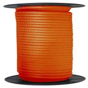 ANCHOR ROPE DOCK LINE 1cm X 15m BRAIDED 100% NYLON Orange MADE IN USA