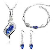 Yonger Elegant Angel Wizard Necklace Earrings Bracelet Ring Set Of Jewellery Portfolio Best Gift for Women