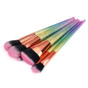 Owill Stylish Scrub Dazzling Make Up Brushes Foundation Eyebrow Eyeliner Cosmetic Concealer Tools