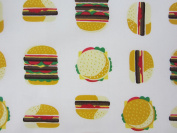 Hamburger Delight 100% Cotton (FLAT SHEET ONLY) Size TWIN Boys Girls Kids Bedding