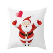 Inverlee Christmas Santa Claus Cotton Linen Cushion Cover Throw Pillow Case Sofa Bed Xmas Home Decor
