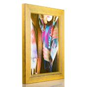 Craig Frames Gesso, Yellow Plain Wooden Picture Frame, 20cm by 25cm