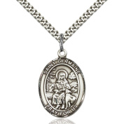 Sterling Silver St. Germaine Cousin Pendant 2.5cm x 1.9cm with Heavy Curb Chain