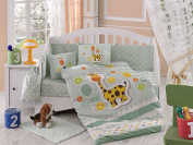 Puffy - Hobby Baby Deluxe Duvet Cover Set - 100% Cotton - 4 pieces (Mint) - Made in Turkey
