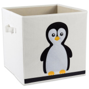 "E-Living Store Collapsible Storage Bin Cube for Bedroom, Nursery, Playroom and More 13x 33cm x 13"" - Penguin"