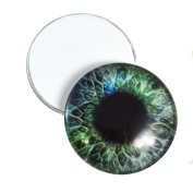 40mm Pair of Big Blue and Green Glass Eyes, for Jewellery Making, Arts Dolls, Sculptures, and More