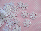 YYCRAFT Pack Of 120 Paddad 1.9cm Snowflake Winter Applique/Christmas/trim