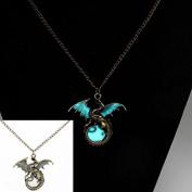 Fairy Dragon Glow In The Dark Pendant Necklace Chain Magic Steampunk Pretty Gift