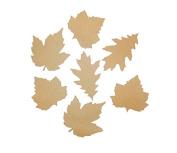 Tin Roof Treasure Kraft Paper Autumn Leaves Assortment 7.6cm - 10cm Pack of 30