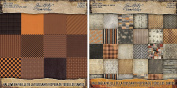 Tim Holtz Idea-Ology Halloween Kraft Cardstock Pad and Halloween Paper Stash Pad - Two Items