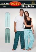 Simplicity 1494 It's So Easy Women's and Men's Pants Size S-XXXL