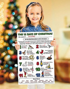 12 Days of Christmas Colour Your Own Poster Pack of 24