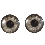 40mm Pair of Large Black and White Steampunk Glass Eyes, for Jewellery making, Arts Dolls, Sculptures, and More