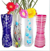 Eco-friendly Reusable Foldable Folding Flower PVC Durable Vase Home DecorationWedding Party Easy to Store