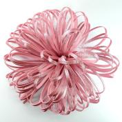 Flower Glitter Foamy use as bow for present baby shower wedding flowers glitter pink