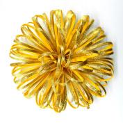Flower Glitter Foamy use as bow for present baby shower wedding flowers glitter gold