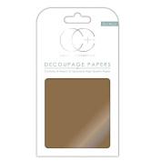 Craft Consortium Decoupage Papers 35cm x 40cm 3/Pkg-Metallic Antique Gold