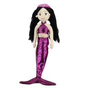 """Cotton Candy Mermaid Doll Soft Plush Toy Hailey Mythical Creatures 17""""/45cm Pink"""