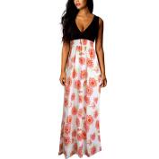 Hot Sale ! Women New Fashoin Summer A-Line Bohemian Print Dress,Ninasill Exclusive Long Evening Party Sleeveless Dress Beach Dresses