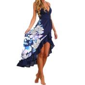 Hot Sale ! Fashion Beautiful Women Summer Bohemian Draped Sleeveless Dress, Ninasill Exclusive Long Maxi Party Cocktail Dress Beach Sundress