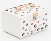 WOLF Blossom Jewellery Box Jewellery, Large, White
