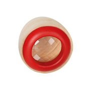 Remeehi 1Pcs Wood Bee-eye Interesting Effect Magic Kaleidoscope Explore Baby Kids Children Learning Educational Puzzle Toy Red