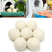 8pcs XL Wool Dryer Ball Reusable Natrual Fabric Softener Balls for Clothes Drying Machine