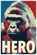 Harambe Pop Art Hero Funny Poster 12x18
