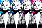 Marilyn Monroe Colour Lips Pop Art Hollywood Glamour Celebrity Actress Poster