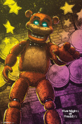 Five Nights At Freddys Classic Freddy Video Gaming Poster 22x34
