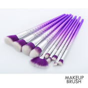 LYNN 10Pcs Unicorn Makeup Brushes Set Fantasy Beauty Tools Foundation Eyeshadow Brushes Kit