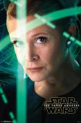 Star Wars The Force Awakens Leia Closeup Portrait Movie Poster 22x34