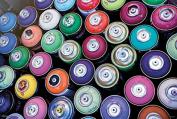 Spray Paint Spectrum Photo Art Print Poster 36x24