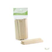 100 Large Keen Wooden Sticks Wax Applicators, Coffee Stir sticks, Crafts