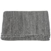 Gracie Oaks Lylia Plain Marled Seed Stitch Knit Throw