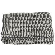 Gracie Oaks Lylia Houndstooth Knit Throw