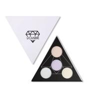 UCANBE Highlighter Palette Shimmer Illuminating Powder Makeup Satin Glow Kit - Revamp Your Eyeshadow Lip Colour Highlighing Finish