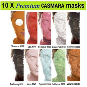 10 X CASMARA Mask Premium Package ( New with Stem Cell Mask ) + 1 Mixing Spatula and 2 of Korean Skincare Samples