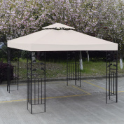 Costway 3m X 3m Gazebo Top Cover Patio Canopy Replacement 2-Tier 3 Colour